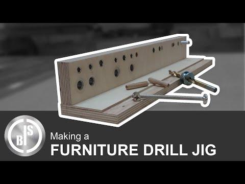 How to make a Drill Template for Furniture making / Bohrschablone für Möbelbau selber bauen
