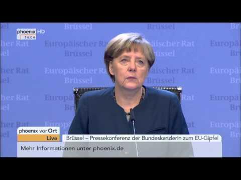 EU-Gipfel: PK mit Angela Merkel zu den Ergebnissen am 20.03.2015