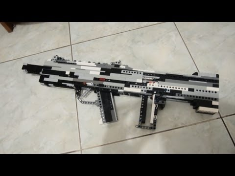 lego Custom Assault Rifle(Working)+Instructions