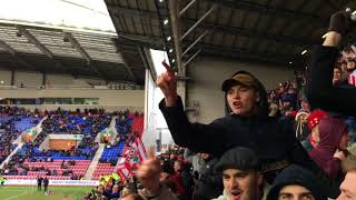 Saints Fans At Wigan fA Cup 2018