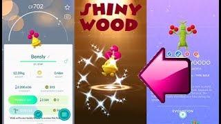 Pokemon Go Shiny Bonsly Hatch & Shiny Sudowoodo Evolution