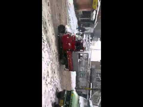 Snow fall at qammerwari srinagar
