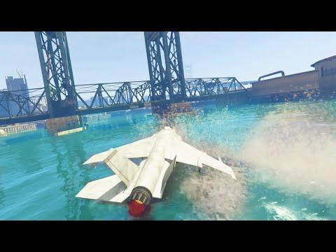 Hydra Water Drift Stunt (gta 5 Hit A Stunt #41) video