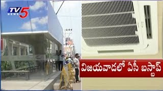 AC Bus Stops Held In Vijayawada City