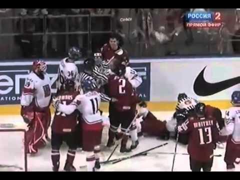 Хоккей ЧМ 2010 Канада vs Чехия драки