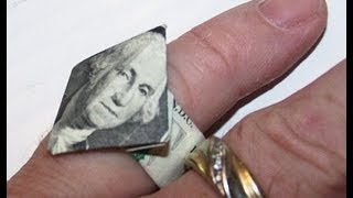 Origami Diamond Money Ring (moneygami)
