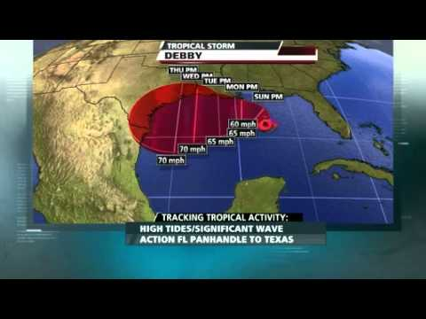 Tropical Storm Debby crawling offshore in the Gulf - Worldnews.