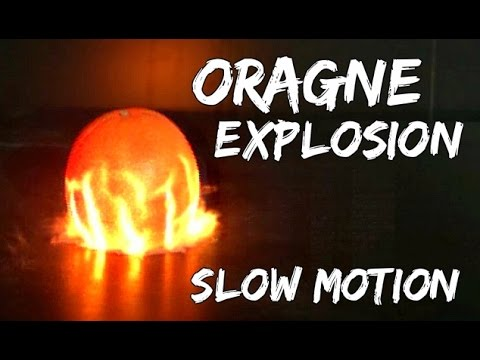 Orange Exploding at 62,000 fps!! - Slow Mo Lab
