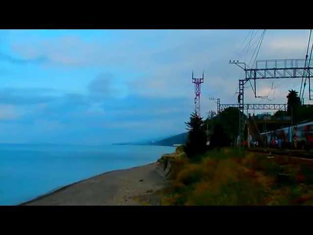 Утро в Чемитоквадже, Лазаревское. Погода 9 июня 2014 г. Воздух + 20°C, вода + 21°C