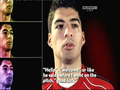 Luis Suarez interview before the Chelsea v Liverpool Game (HD)