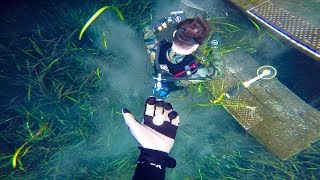 Pranking Dallmyd with Metal Detector (Giant blue hole)