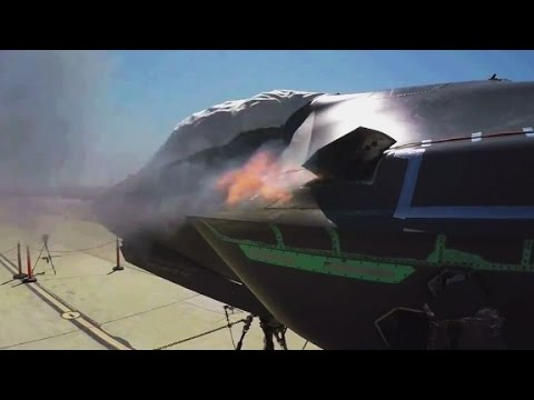 See F-35 fighter jet's machine gun test