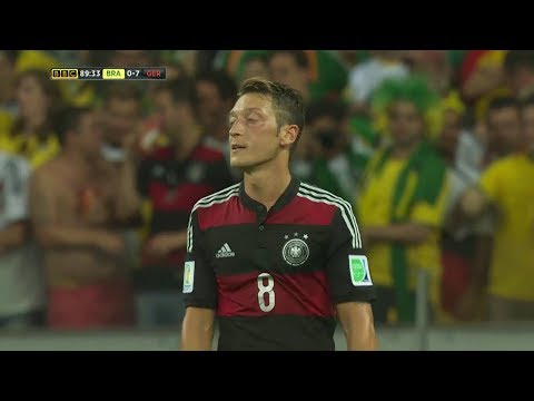 Mesut Özil vs Brazil (World Cup) HD 720p (08/07/2014)