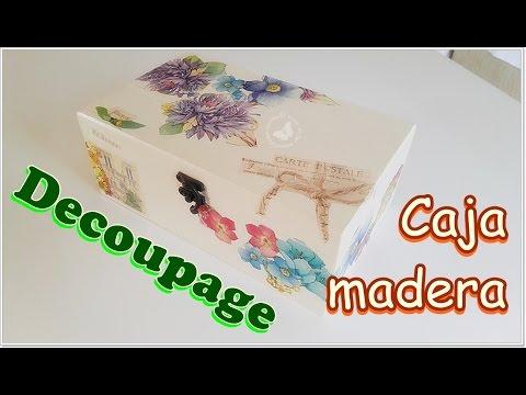 C�mo decorar cajas de madera en decoupage.