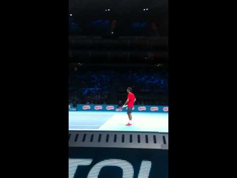 Roger Federer vs Stanislas Wawrinka at the O2 arena