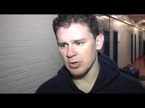 Flyers post match v Edinburgh away - Podge Turnbull and Todd Dutiaume