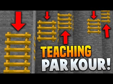 TEACHING PARKOUR! | Minecraft