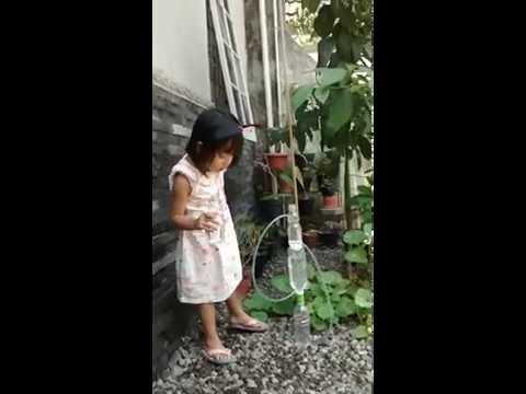 Membuat Air mancur tanpa listrik - Heron Fountain