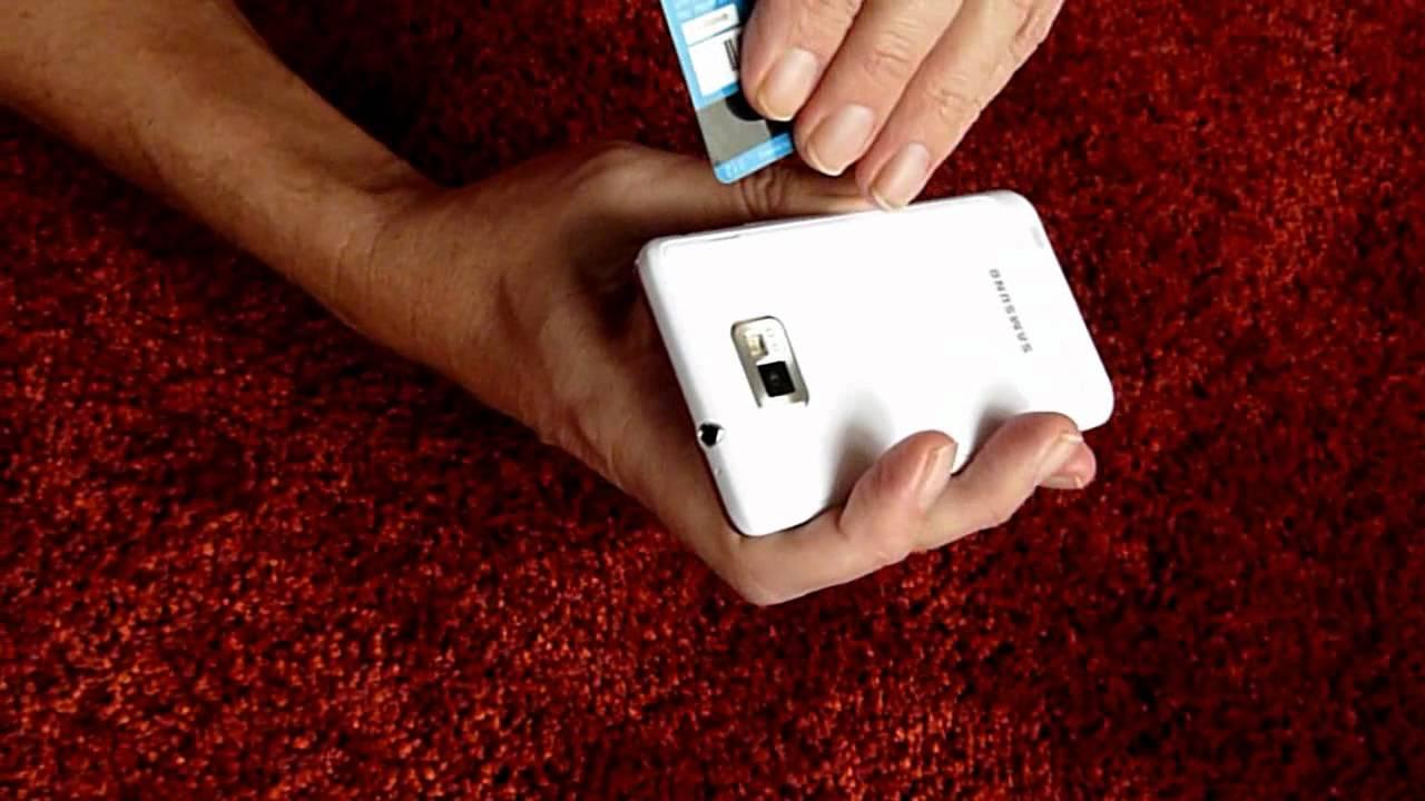 Samsung Galaxy S2  Wie  U00f6ffnet Man Die Klappe  Den Deckel