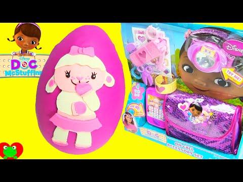 Doc McStuffins Lambie Play Doh Surprise Egg Blind Bags Series 2 Accessory Set