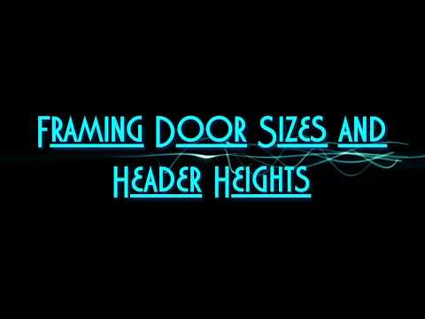 Watch this short basement finishing video to learn how to frame the correct size for your interior basement doors. Also learn the correct height and position for your basement door header. This video gives you some cool quick framing info!