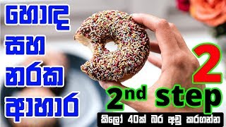 Sinhala Weight Loss - Step 2.2 (food calories)