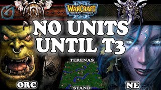 Grubby | Warcraft 3 TFT | 1.29 | ORC v NE on Terenas Stand - No Units Until T3