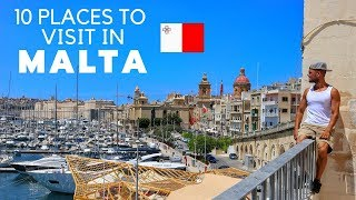 10 FANTASTIC places to visit in MALTA 🇲🇹