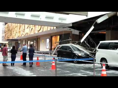 Ceiling collapsed at the Hilton Hotel Singapore