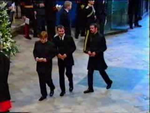 Princess Diana's Funeral Part 7: Elton John & George Michael Video