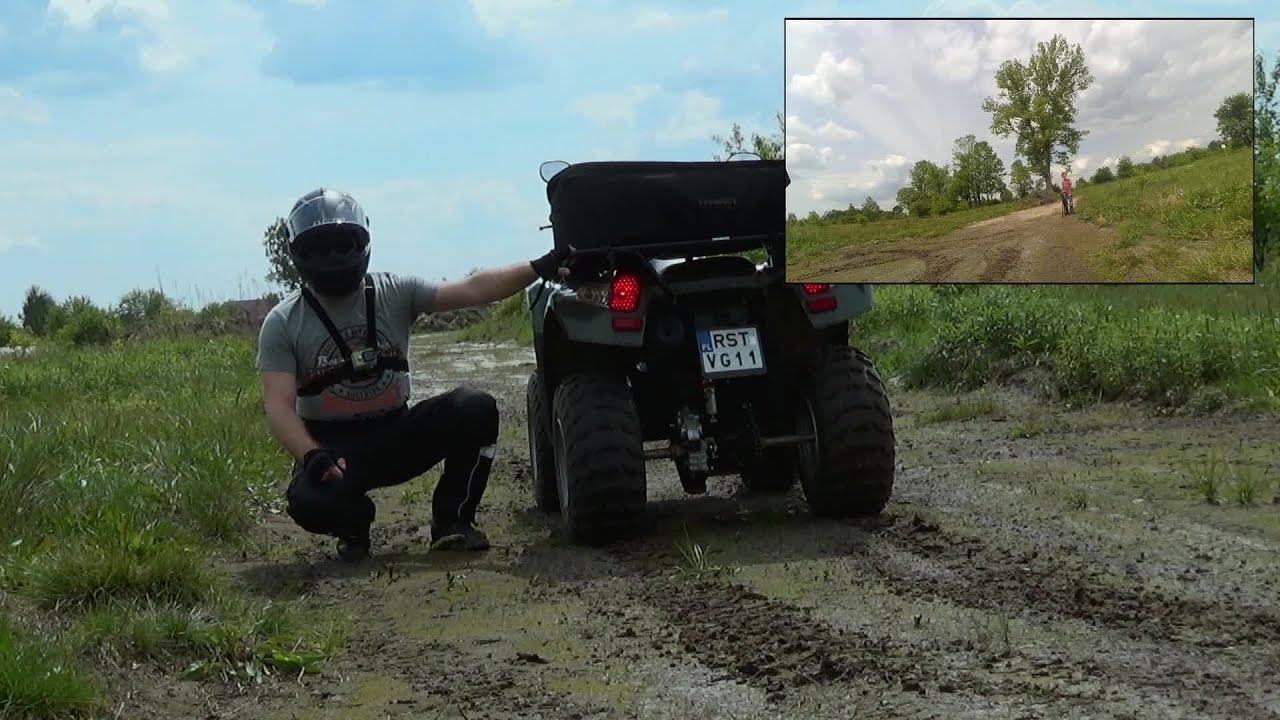 250cc ATV acceleration test - full throttle