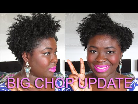 4a 4b 4c Natural Hair   Update 19 months post BIG CHOP. Cuts. Nape Growth etc