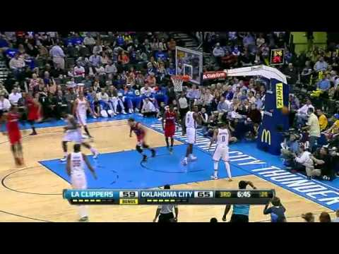 NBA LA Clippers Vs Oklahoma City Thunder Highlights April 11, 2012 Game Recap