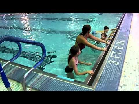 Skylar And Lilly's Swim Lessons At The Ymca, Pike And Polliwog video