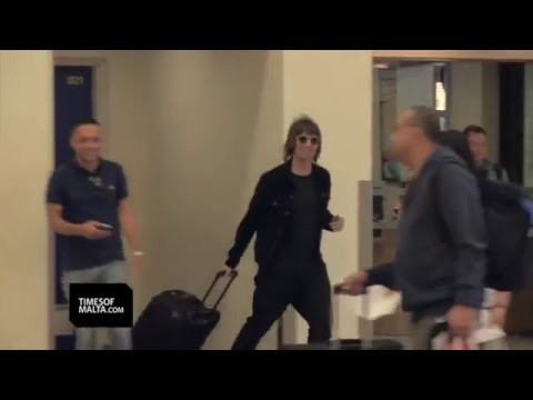 Liam Gallagher on holiday in Malta on 28 April 2016