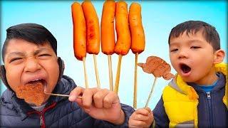 Trò chơi làm máy bay đĩa bay bằng xúc xích nướng ❤ ABC ❤