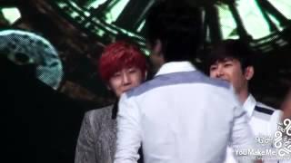 [Fancam] 121123 Infinite Music Bank - Seongyeol Lipsing Hahaaa