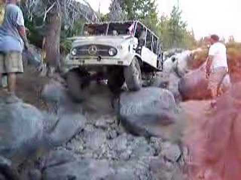 2007 Unimog on Rubicon Trail Old Sluice