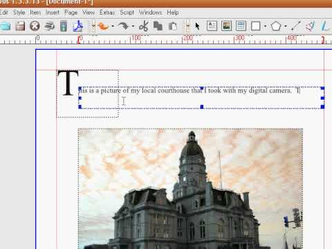 Tutorial Overview of Scribus, creating a pdf document