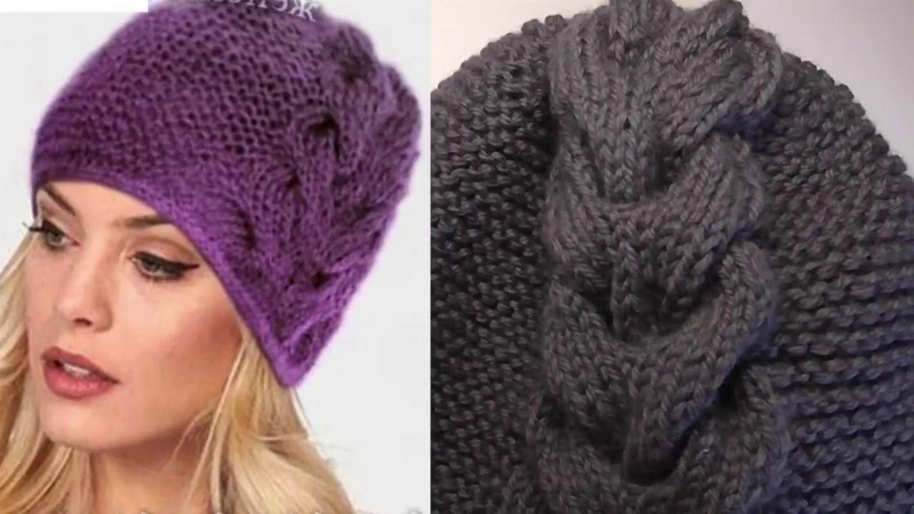 Вязание шапочки женской с косами 54