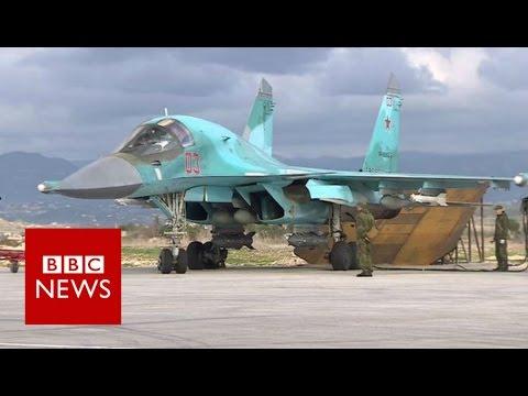 Inside Russian Airbase Launching Syria Strikes - BBC News
