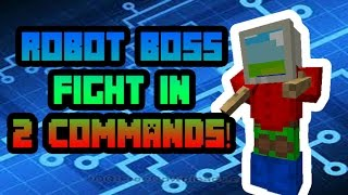 500 Subscriber Special! Robot Boss Fight In 2 Commands!