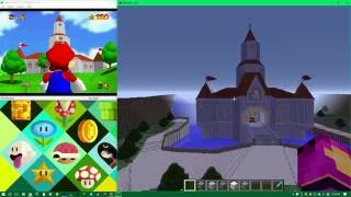 Complete and Accurate Peach's Castle from Mario 64 in Minecraft - Video and Downloads