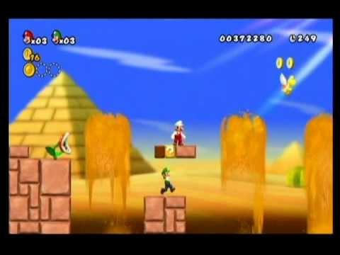 NEW SUPER MARIO BROS WII-ALM1GHTY & WIFEY-WALKTHROUGH-WORLD 2-1-PT2