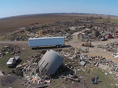 Raw: Aerial Footage of Illinois Tornado Damage
