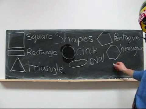 Free English Learning 83 - Shapes (square. rectangle. circle. oval)