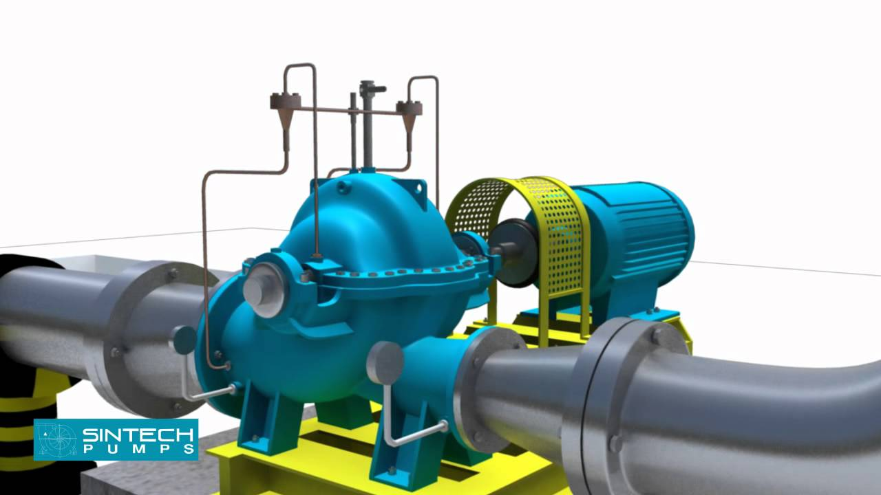 Horizontal Split Casing Pumps 3D Installation Manual - YouTube