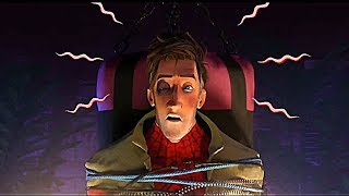 """""""Miles Morales Interrogates Peter B. Parker"""" - [Spider-Man Into The Spiderverse] (HD)"""