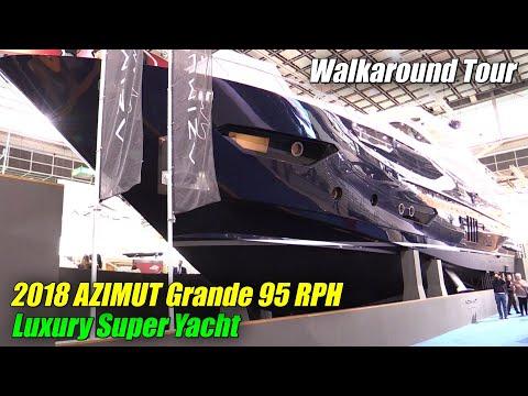 2018 Azimut Grande 95 RPH Luxury Yacht - Walkaround - 2018 Boot Dusseldorf Boat Show