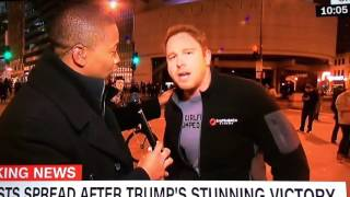 EX CNN CAMERAMAN John Grkovic-- Donald Trump Election Protest: Bro Dude's Epic Live TV Meltdown on C
